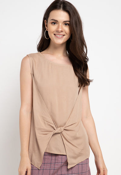 Blouse with spin detail - Beige