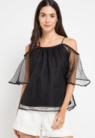 Off Shoulder Sheer top
