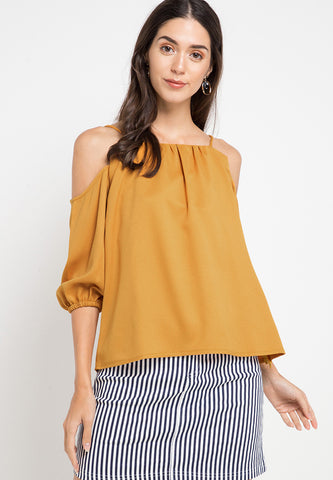 Strappy Top - Mustard