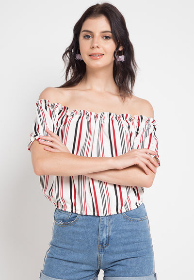 Sabrina Frill Stripe Top