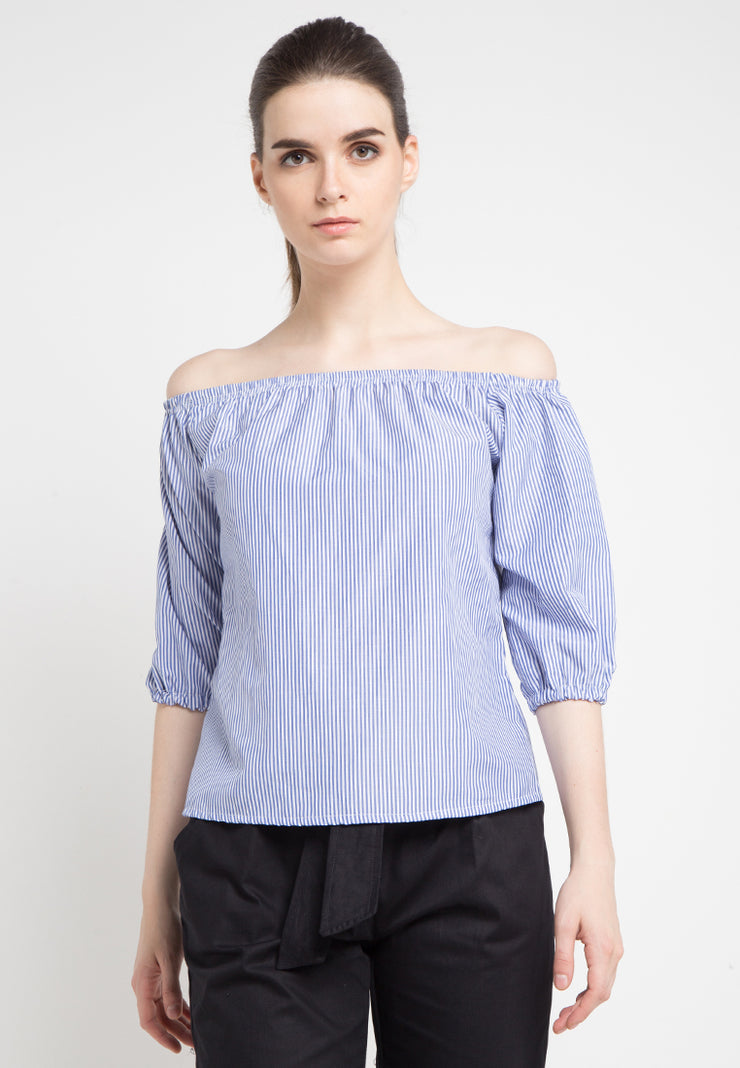 Striped Wide Top - Blue
