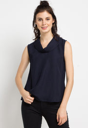 Shawl Sleeveless Blouse