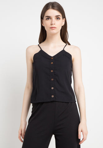 Camisole with Button Top - Black