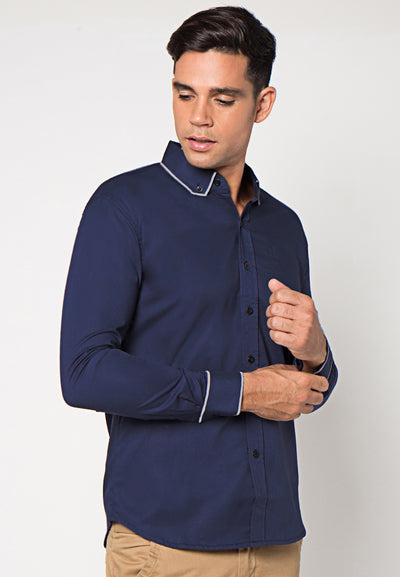 Judge.Man Gustavo Shirt - Navy