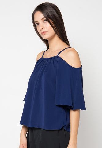 Edith Blouse - Navy