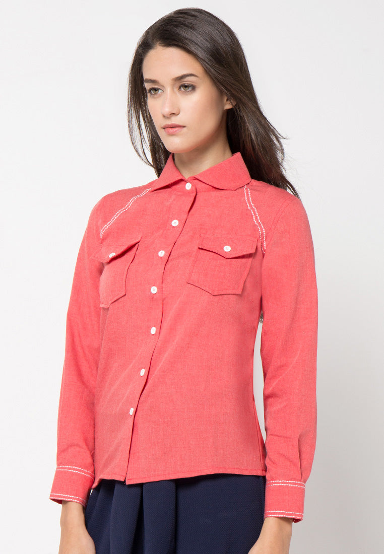 Chambray Shirt - Red