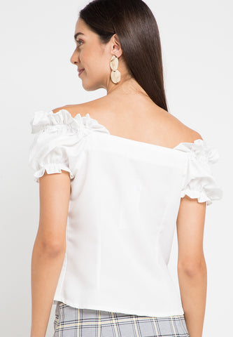 Crop Frilled top