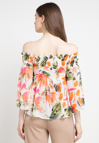 Flower Curl Top