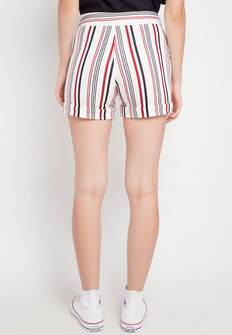 Basic Stripe Short - White