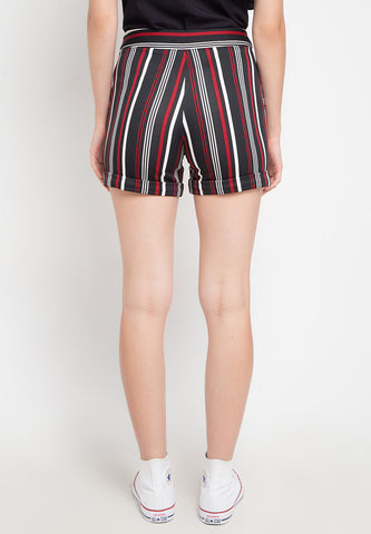 Basic Stripe Short - Black