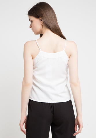 Camisole with Button Top - White