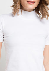 Turtle Neck tee - White