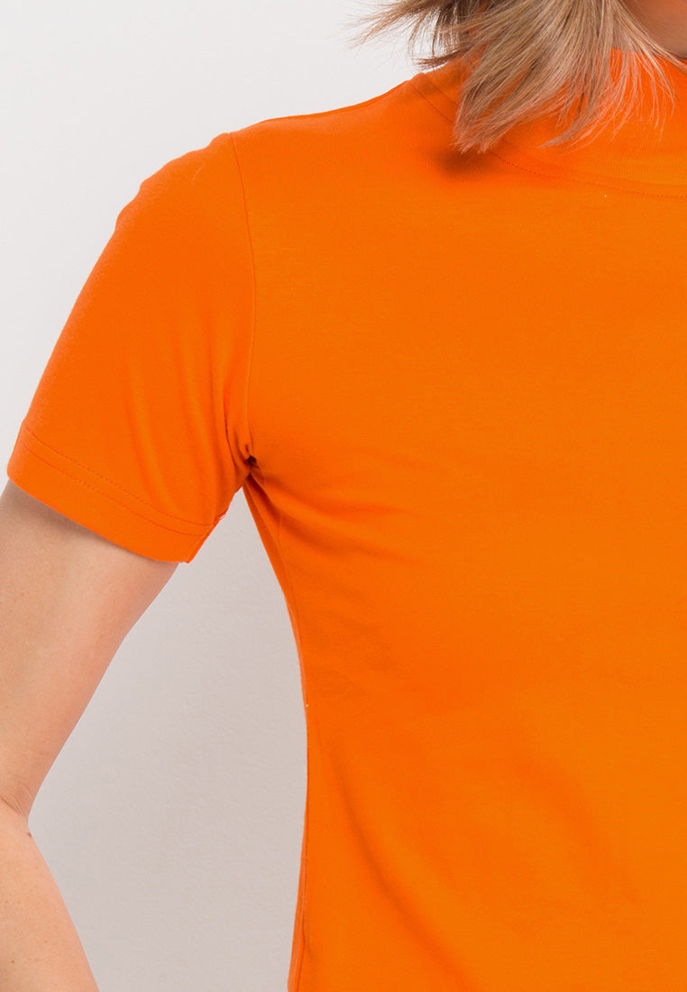 Turtle Neck tee - Orange