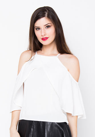 Mysha Off Shoulder Top - White