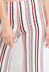Stripe Cutbray Pants