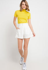 Turtle Neck tee - Yellow