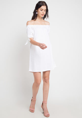 Sabrina Dress with Ribbon Detail