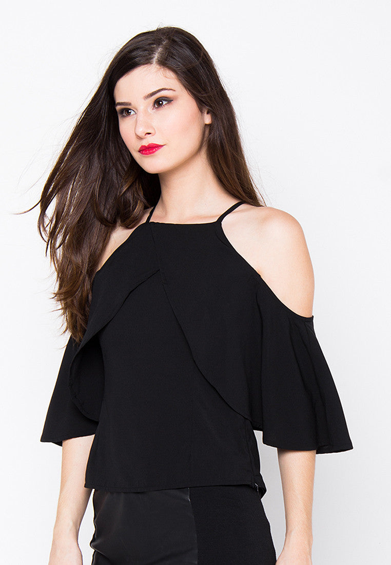 Mysha Off Shoulder Top - Black