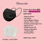 Q95 wth Filter + Breathing Valve - BlackPink