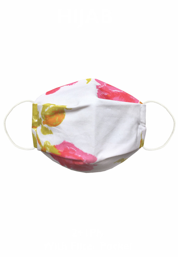 Cotton Face Mask 2ply N95 Look - Flower