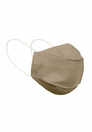 Cotton Face Mask With Filter Pocket - Beige