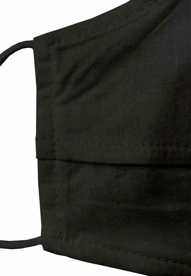 Duck Bill Cotton Face Mask with Filter Pocket - Black ( Bundling )