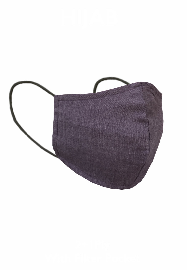 Duck Bill Cotton Face Mask with Filter Pocket - Taro