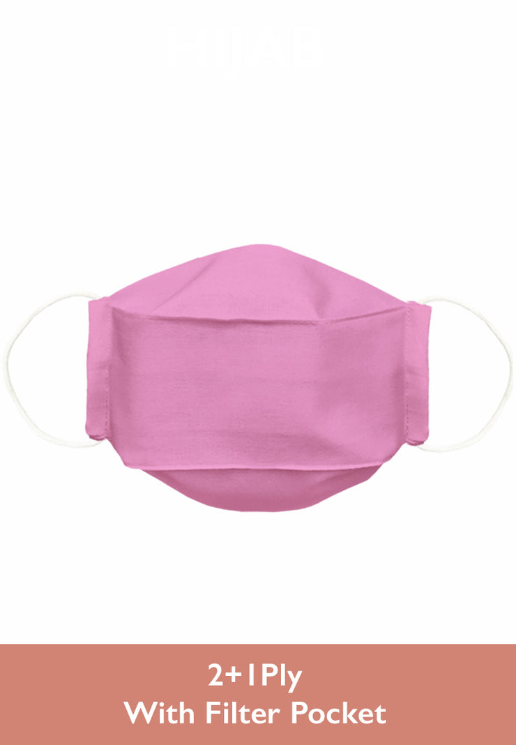 Cotton Face Mask With Filter Pocket - Flamingo