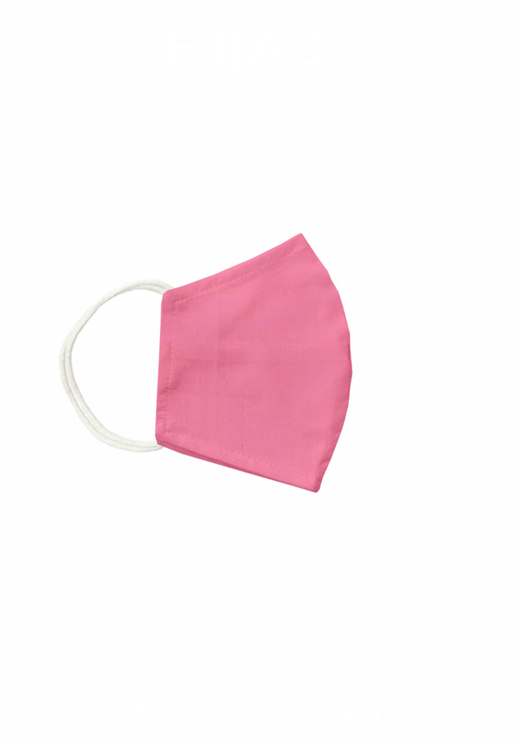 Duck Bill Cotton Face Mask with Filter Pocket - Bubblegum