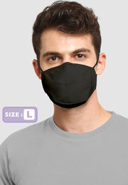 Q95 Disposable Face Mask - Earloop - LARGE - Black