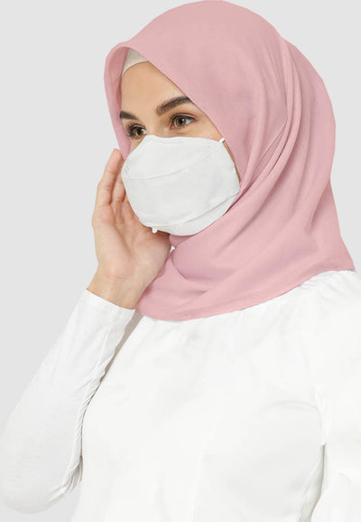 Q95 Disposable Face Mask - HIJAB - White