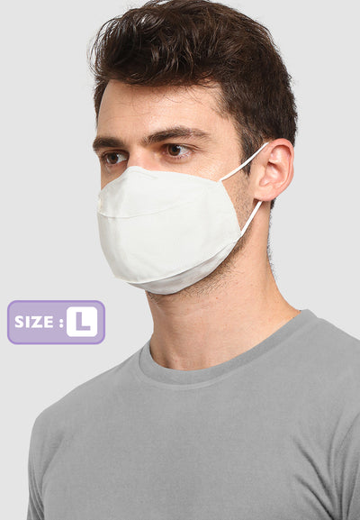 Q95 Disposable Face Mask - Earloop - LARGE - White