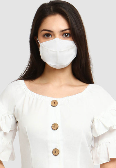Q95 Disposable Face Mask - Earloop - White