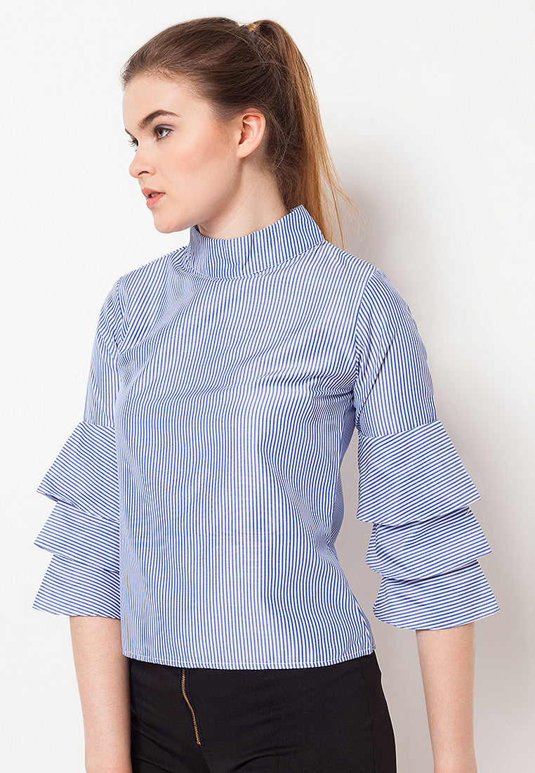 Triple Bell Striped Top