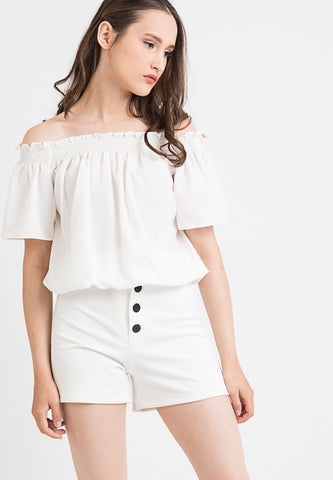 Curl Top - White
