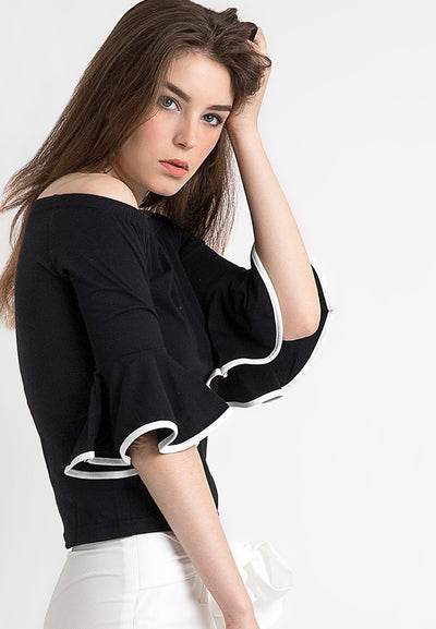 Sabrina Tee with Bell - Black