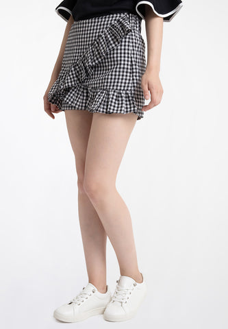 Gingham Short - black