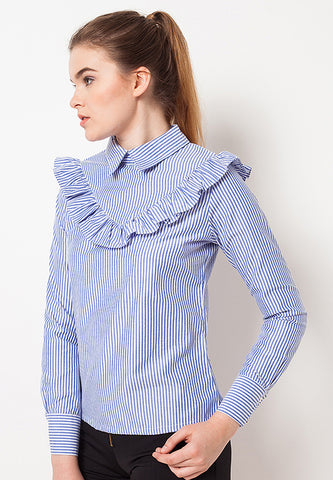 Striped Long Sleeves Shirt - Blue