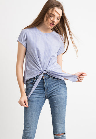 Basic Stripped Knotted Top