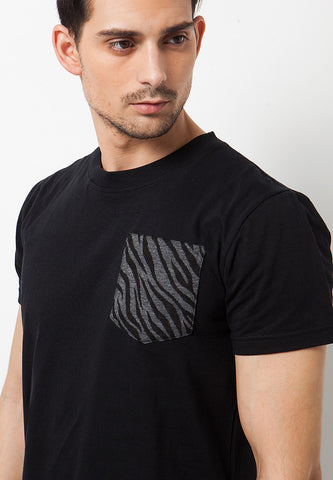 Roar Pocket T-Shirt Black