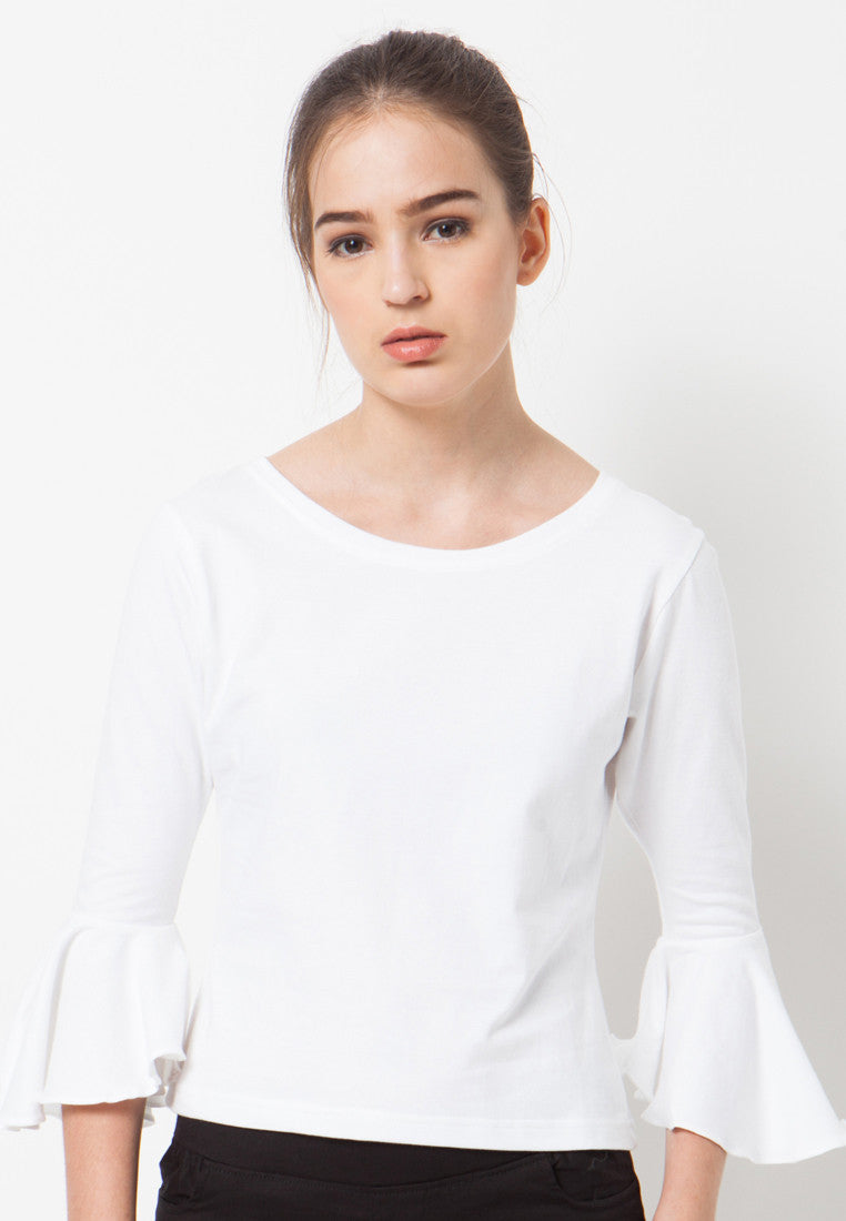 Bell Sleeves Tee - White