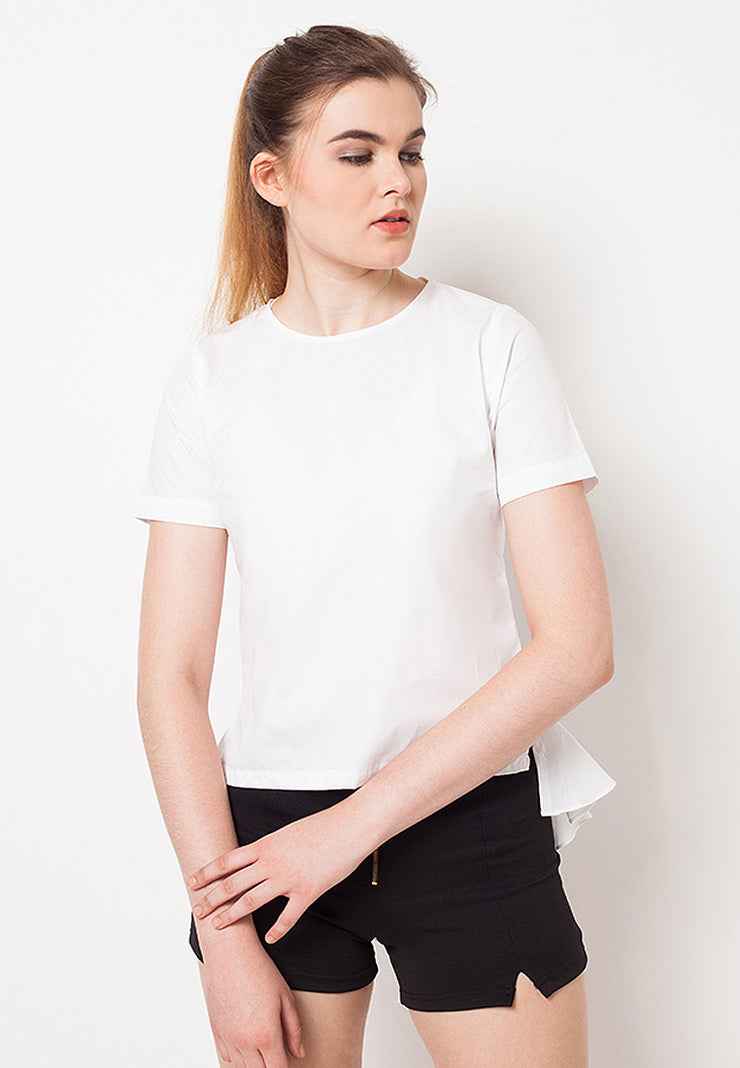 Short Sleeves Blouse with Mermaid Tail