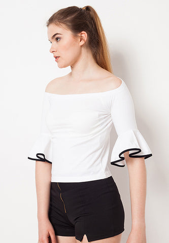 Sabrina Tee with Bell - White