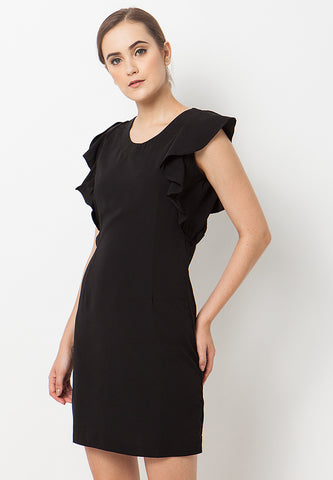Ruffle Dress - Black