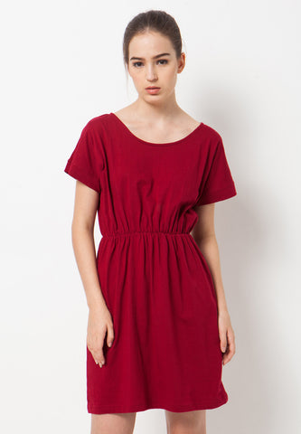 Flow Tee Dress - Red