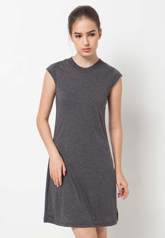 Basic T-shirt Dress - Grey