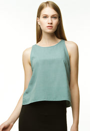 Basic Chambray Camisole - Green