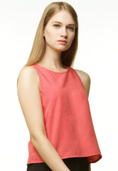 Basic Chambray Camisole - Pink