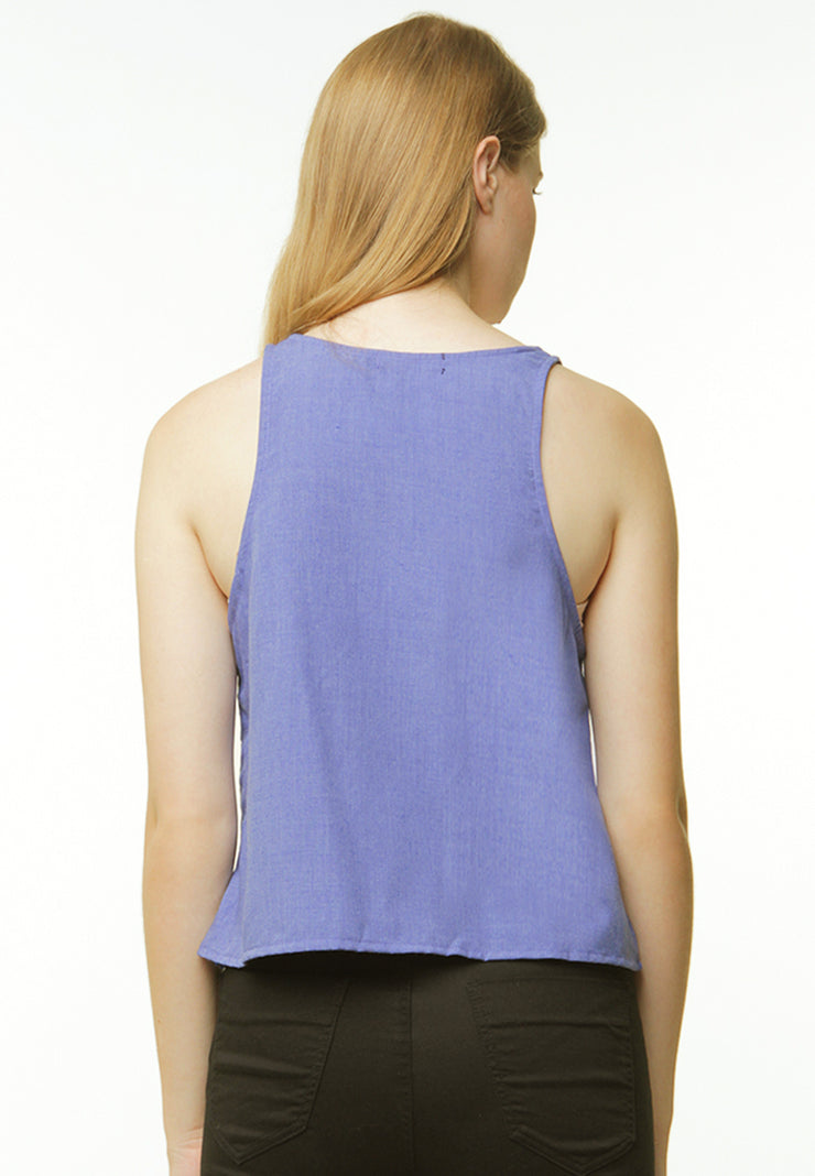 Basic Chambray Camisole - Blue