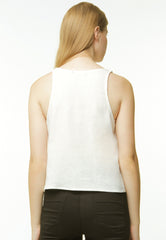 Basic Chambray Camisole - White